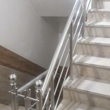 نرده استیل راه پله و حفاظ استیل بهادر در تهران و کرج و فردیس