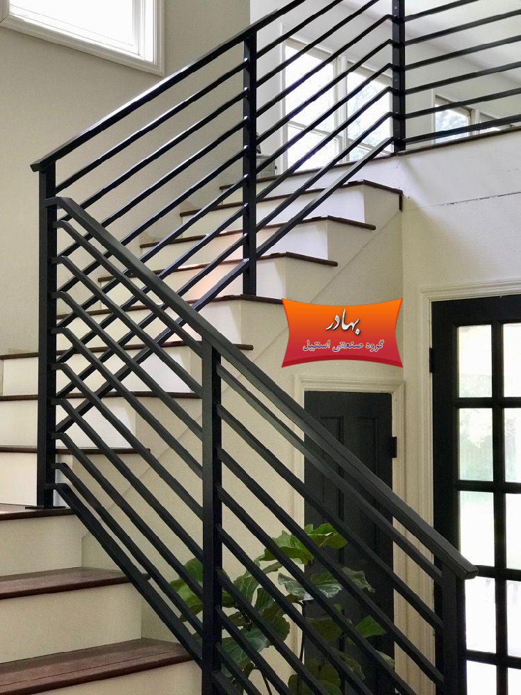 نرده و حفاظ بالکن و پله استیل ، فلزی ، چوبی